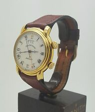 Vintage Rare Maurice Lacroix Masterpiece Reveil Automatic Alarm Day Date Gold Pt