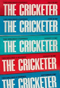 Various Issues of THE CRICKETER Magazine from Spring 1967 to December 1976