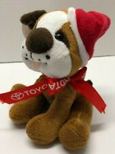 "Toyota Bull Dog 6"" Santa Hat Sitting Plush"