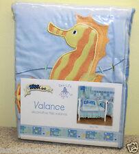 Kids Line SEA LIFE 1 Tab Top Valance Seahorse Octopus NIP