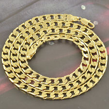 Heavy 24 Inches 9K Yellow Gold Filled Men's Link Chain Necklace,COOL,Z2494
