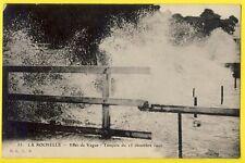 cpa 17 - LA ROCHELLE Tempête du 15 décembre 1910 Cachet Franchise Militaire 123