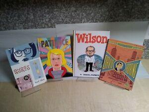 Daniel Clowes Graphic Novel Lot, Ghost World, David Boring, Wilson, Patience