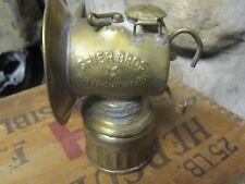Vintage Antique Grier Bros. Carbide Cap Lamp
