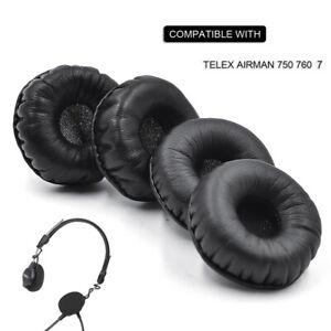 Leather Ear pads cushion fit Telex Airman750 airman760 airman 750 760 headphones