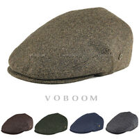VOBOOM HERRINGBONE MENS IVY CAP 50% WOOL TWEED GATSBY CAP WARM WINTER HAT 4