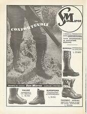 W0655 Scarpe da Caccia San MARCO - Caerano - Pubblicità 1969 - Advertising