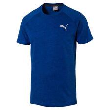 Maglie e top da uomo blu PUMA in poliestere per palestra, fitness, corsa e yoga