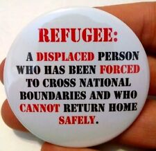 Refugee Definition Pinback Button 2.25 2 1/4 Immigrant Anti Trump March Protest