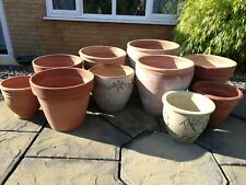 More details for terracotta pots x 10, assorted sizes and designs