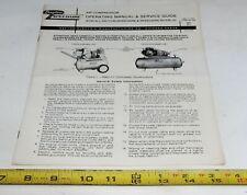 Vintage Dayton Air Compressor Operating Manual Amp Service Guide All Models