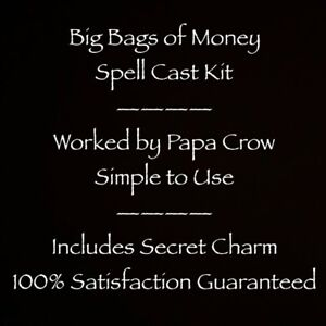 Big Bags Money Spell Cast Prayer Charm Kit Success Lottery Lotto Gambling Work