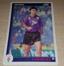 CARD SCORE 1993 FIORENTINA LATORRE CALCIO FOOTBALL SOCCER ALBUM