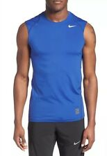 Nike Men's Dri-Fit Pro Combat Hypercool Fitted Tank Top - Blue/Black - XL