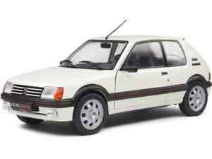 PEUGEOT 205 GTi 1.9 Mk.1 diecast model road car white 1988 1:18th SOLIDO 1801710
