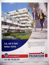 PUBLICITE-ADVERTISING :  PROMOGIM Beau Vivre  2016 Immobilier