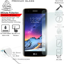 LG K8 2017 100% Genuine Gorilla Tech Tempered Glass Film Screen Protector Guard