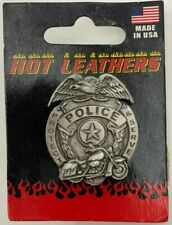 Hot Leathers Police Badge Protect & Serve Pin, Harley, Pewter