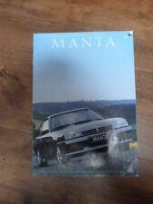 Werbeprospekt Opel Manta B GSi Opel Manta B Prospekt mit CC und GSI ca. 1980
