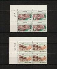 (YYAY 264) Monaco 1964 - 1965 MNH Mich 777 - 778 Palace Block of 4
