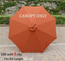 10ft Replacement Market Umbrella Canopy 8 Ribs in Terra Cotta (Canopy Only)