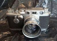 Leica IIIF 1955 nº.765431 Summitar f=5 cm,1:2 n°.937652 and Kodak Sunshade