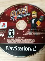 BUZZ!: THE HOLLYWOOD QUIZ (PlayStation 2, PS2) Disc Only Tested Fast Free Ship!
