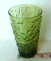 Lido Avocado Green Glass Tumbler Anchor Hocking Mid Century Vintage