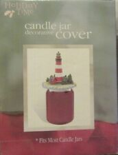 NEW IN BOX CANDLE JAR COVER CANDLE JAR DECORATIVE COVER IT'S A LIGHT HOUSE