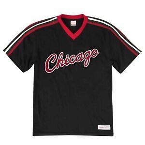Mitchell & Ness Chicago Bulls Overtime Win V Neck T-Shirt Tee VNECAJ18003 CBU