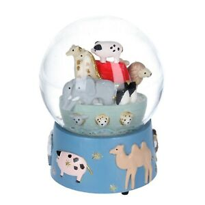 Musical Snow Globe Dome Noah's Ark Embossed Base Plays Talk to the Animals