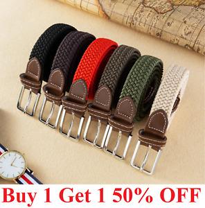 Elastic Fabric Braided Belt, Enduring Stretch Woven Belt for Women men unisex