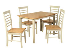 Oak Stone Painted Dining Set - Bergen Painted Oak 3.5' Dining Table with 4 Chair