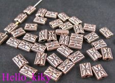 180Pcs  Antiqued copper plt omate square spacer beads A78