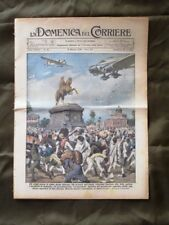 La Domenica del Corriere 10 Maggio 1936 Aereo Badoglio L. Fusco Città etiopica