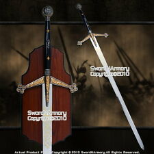 """56 """" Scottish Claymore Full Size Medieval Knight Long Sword with Display Plaque"""