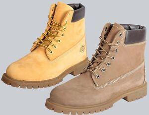 """Dickies Schuhe Boots """"Fort Worth"""" in Nubuck Brown oder Honey, Größen: 41 bis 45"""