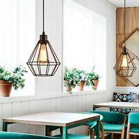 Vintage Pendant Light Fitting Ceiling Light E27 Cage Suspension Industrial Light