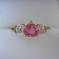 1.52ct Sri Lankan Padparadscha Sapphire & Diamond Gold Engagement Ring