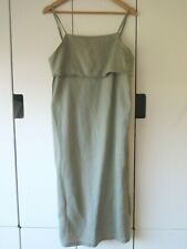 HUMIDITY Sz 12 100% Linen Olive Dress - BNWOTGS