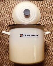 Le Creuset Enamel on Steel 10 Qt Meringue Round Stock Pot*New