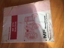 MASSEY FERGUSON TRACTOR PARTS BOOK CATALOG MANUAL MF 275 SERIES NEW