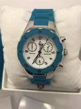 Michele Watch Tahitian Jelly Bean Turquoise Chrongraph Womens