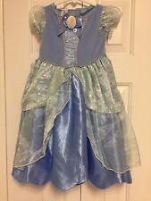 Disney Baby Princess Cinderella Costume Dress Toddler Girls Sz 18 Mon Gown VGUC