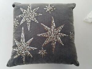 Pottery Barn Teen Emily & Meritt The North Star Velvet Sequin Pillow #4398