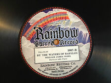 RAINBOW Ornate Label Sacred 78 rpm Record Victrola James Work BABYLON 1920's