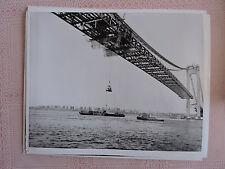 Rare 1962 Construction Verrazano Narrows Bridge Brooklyn Staten Island NYC Amman