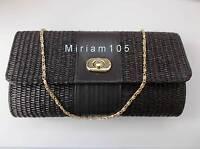 Avon Alyssa Black Clutch Bag