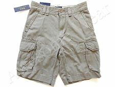 New Ralph Lauren Polo 100% Cotton Faded Army Green Chino Cargo Shorts size 42