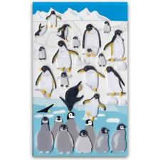 CUTE PENGUIN FELT STICKERS Sheet Winter Animal Craft Scrapbook Fuzzy Sticker